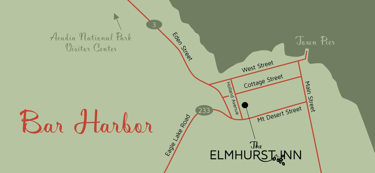 The Elmhurst Inn Find Us - Find us map